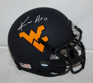 Kevin White Autographed West Virginia Mountaineers Blue Mini Helmet- JSA W *wht