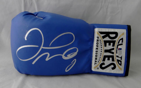 Floyd Mayweather Autographed Blue Cleto Reyes Boxing Glove - Beckett Authentic