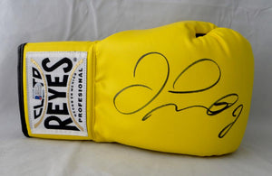 Floyd Mayweather Autographed Yellow Cleto Reyes Boxing Glove - Beckett Authentic