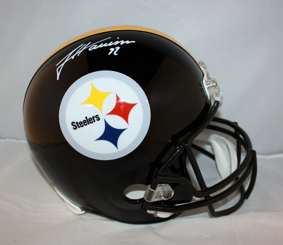 James Harrison Autographed Pittsburgh Steelers Full Size Helmet JSA Witness *wht