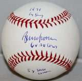 "Bruce Sutter Autographed Rawlings ""Stat""  OML Baseball JSA Witness Authenticated"