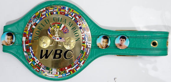 Floyd Mayweather Autographed Green WBC Boxing Belt- Beckett  *Silver
