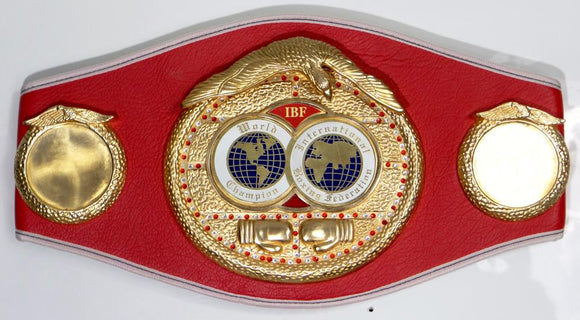 Floyd Mayweather Autographed Red IBF Boxing Belt Beckett BAS *Silver*