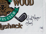 Chevy Chase, Michael O'Keefe, Cindy Morgan Autographed Bushwood Flag Beckett BAS