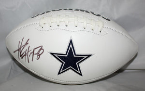 Alvin Harper Autographed Dallas Cowboys Logo Football JSA Witness Authenticated