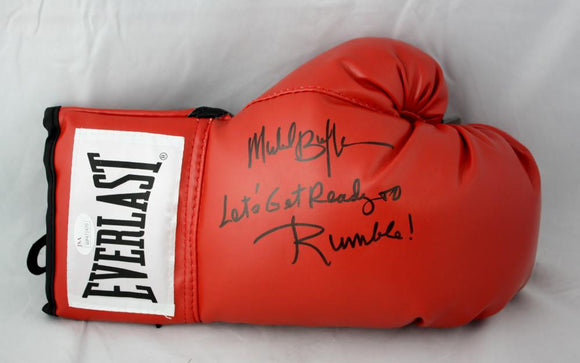 Michael Buffer Autographed Everlast Boxing Glove JSA W, Lets get ready to rumble
