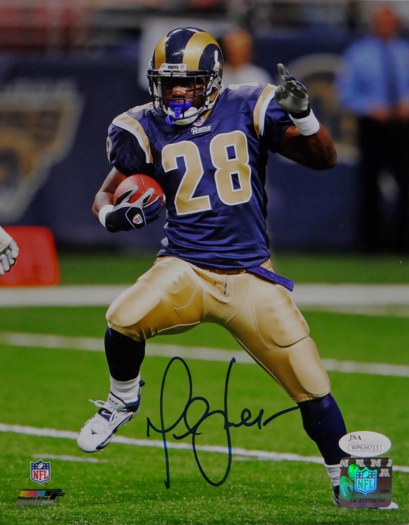 low priced 5a49a ccfa1 Marshall Faulk Autographed St Louis Rams 8x10 On Field PF Photo- JSA W Auth