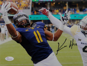 Kevin White Autographed 8x10 West Virginia One Hand Catch Photo - JSA W Auth