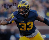 Taco Charlton Autographed 8x10 Michigan Close Up Photo - JSA W Auth *Horz