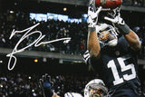 Michael Crabtree Signed Raiders 16x20 Catch vs Chargers PF Photo- JSA W Auth