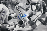 Paul Hornung Autographed Green Bay 16x20 B&W Running- JSA Witness Authenticated