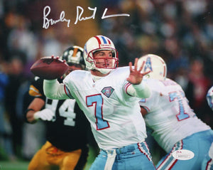 Bucky Richardson Autographed 8x10 Oilers Passing- JSA Witness Authenticated