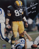 Dave Robinson Autographed Packers 8x10 Standing Over Player Photo W/HOF- Jersey Source Auth