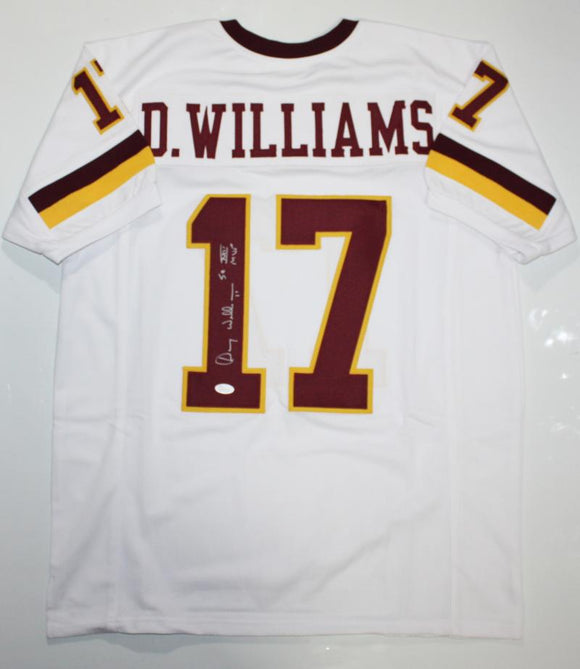 Doug Williams Autographed White Pro Style Jersey W/ SB MVP- JSA W Authenticated