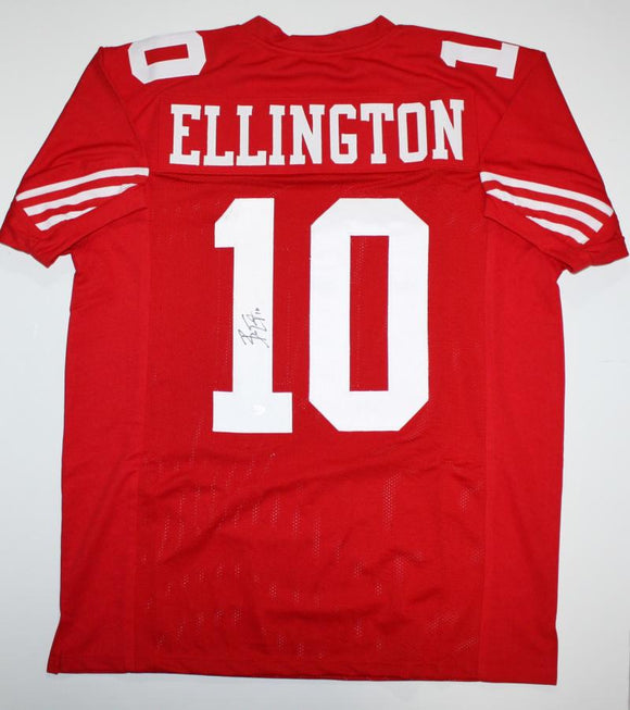 Bruce Ellington Autographed Red Pro Style Jersey- JSA Authenticated