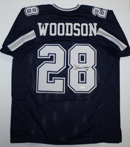 Darren Woodson Autographed Blue Dbl Stitch Pro Style Jersey *8- JSA Witness Authenticated