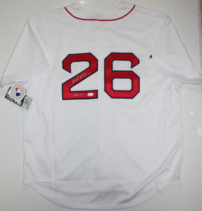 Wade Boggs Autographed White Red Sox Majestic Jersey W/ HOF- JSA W Auth