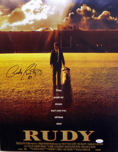 Rudy Ruettiger Autographed 16x20 Movie Poster Photo- JSA W Authenticated