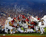 Mark Ingram Signed Alabama 16x20 vs Longhorns w/ '09 Heisman Photo- JSA W Auth