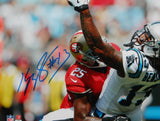 Kelvin Benjamin Signed Carolina Panthers 8x10 One Handed Catch Photo JSA W Auth