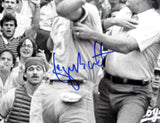 George Brett Autographed KC Royals 16x20 BW Fighting PF Photo- Beckett Auth