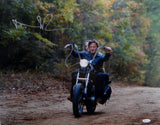 Norman Reedus Autographed Walking Dead 16x20 Motorcycle Photo *L- JSA Auth