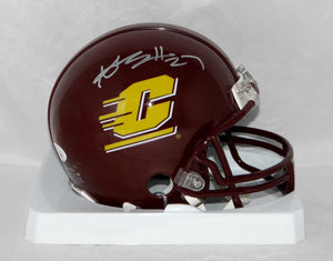 Antonio Brown Autographed Central Michigan Riddell Mini Helmet- JSA W Auth