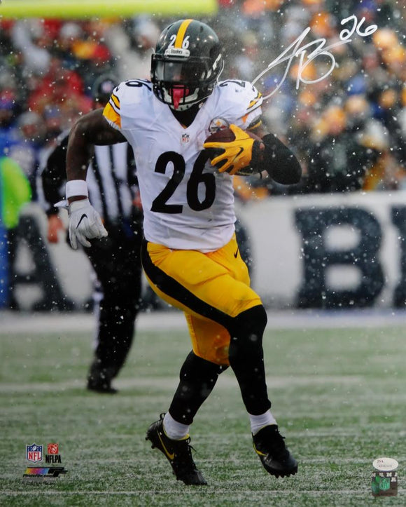 LeVeon Bell Autographed Pittsburgh Steelers 16x20 In Snow PF Photo - JSA W Auth