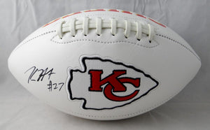 Kareem Hunt Autographed Kansas City Chiefs Logo Football- JSA W Authenticated