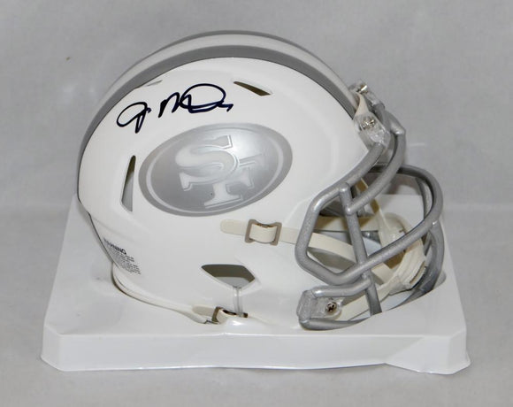 Joe Montana Autographed San Francisco 49ers Ice Mini Helmet- JSA Witnessed Auth