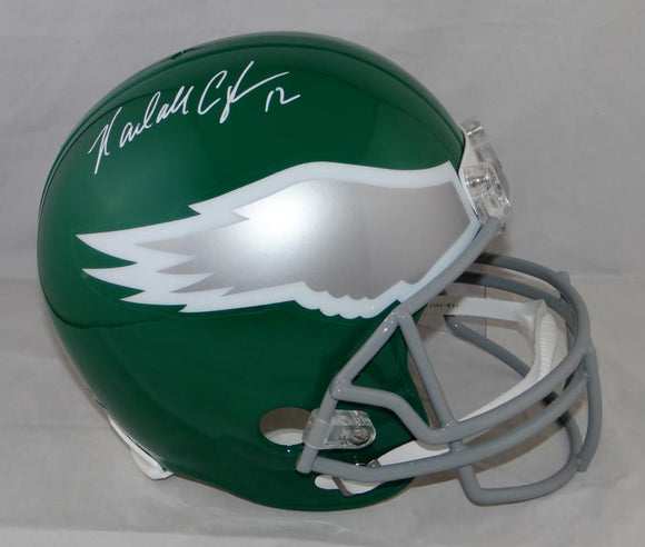 Randall Cunningham Autographed F/S Eagles 74-95 TB Helmet- JSA W Auth *White