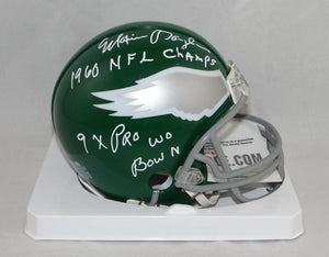 Maxie Baughan Signed Eagles 74-95 TB Mini Helmet W/ Inscriptions- Jersey Source Auth