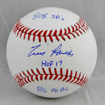Tim Raines Autographed Rawlings OML Baseball w/ Stats- JSA W Authenticated