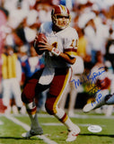 Mark Rypien Autographed Redskins 8x10 Looking to Pass w/ MVP Photo- JSA W Auth