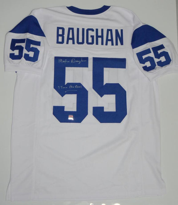 Maxie Baughan Autographed White Pro Style Jersey w/ Insc- Jersey Source Auth