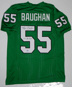 Maxie Baughan Autographed Green Pro Style Jersey w/ Insc- Jersey Source Auth