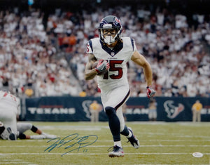 Will Fuller Autographed Houston Texans 16x20 TD Run Photo-JSA W Auth *Blue