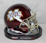 Dak Prescott Signed Mississippi Chrome Gold Mask Mini Helmet- JSA W Auth *Silver