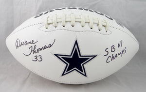 Duane Thomas Autographed Dallas Cowboys Logo Football- The Jersey Source Auth INSC