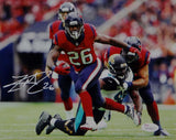 Lamar Miller Signed Houston Texans 8x10 Battle Red Jersey Photo- JSA W Auth *White