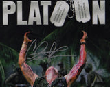 Charlie Sheen Signed 12x18 Platoon Movie Poster Photo- Beckett Authentication