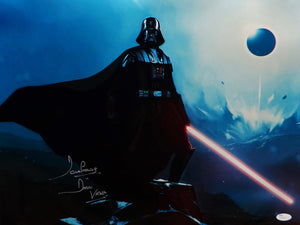 David Prowse Signed Darth Vader Star Wars 16x20 Standing On Rock Photo- JSA Auth *Silver