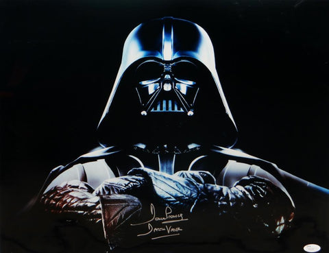 David Prowse Signed Star Wars 16x20 Darth Vader Arms Crossed Photo- JSA Auth *Silver