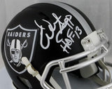 Warren Sapp Signed Oakland Raiders Blaze Mini Helmet W/ HOF- JSA W Auth *White