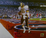 Clint Didier Signed Redskins 8x10 On Field Photo w/ Insc -Jersey Source Auth *Blue