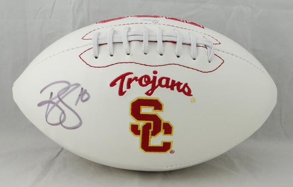 Brian Cushing Autographed USC Trojans Logo Football- JSA W Auth *Left