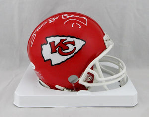 Steve DeBerg Autographed Kansas City Chiefs Mini Helmet- JSA Witnessed *White