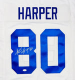 Alvin Harper Autographed White Pro Style Jersey - JSA Witness Auth *8 N/O