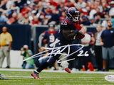 Lamar Miller Autographed Texans 8x10 Against Chargers Photo- JSA W Auth *White