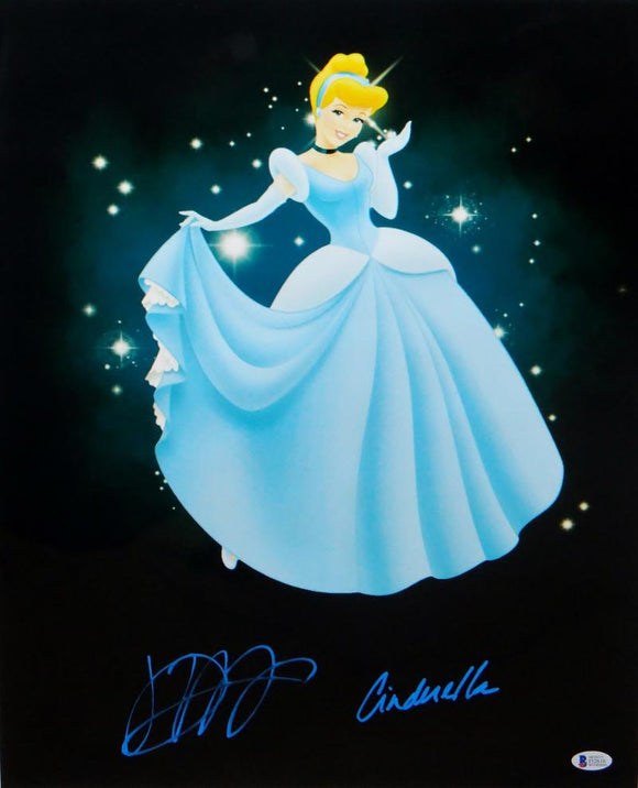 Jennifer Hale Autographed Cinderella 16x20 Photo- Beckett Authenticated *Lt Blue